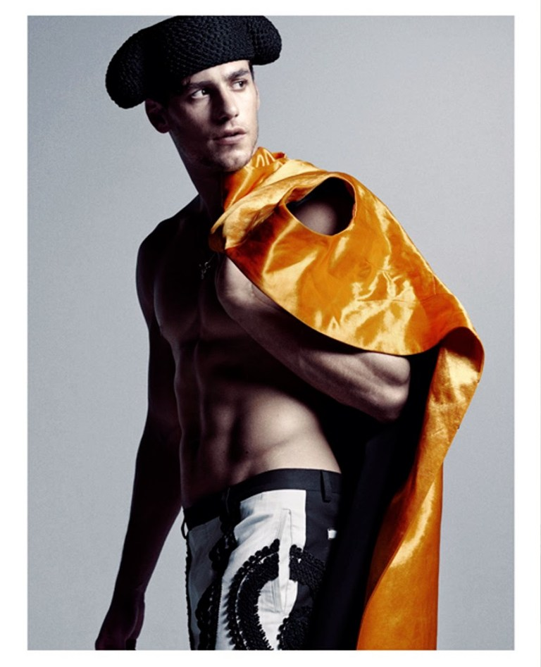 In a high level of fashion here's Top model Mariano Ontañón wearing latest collection by controversy menswear designers Dolce & Gabbana captured by Paul Scala for Manuscript.