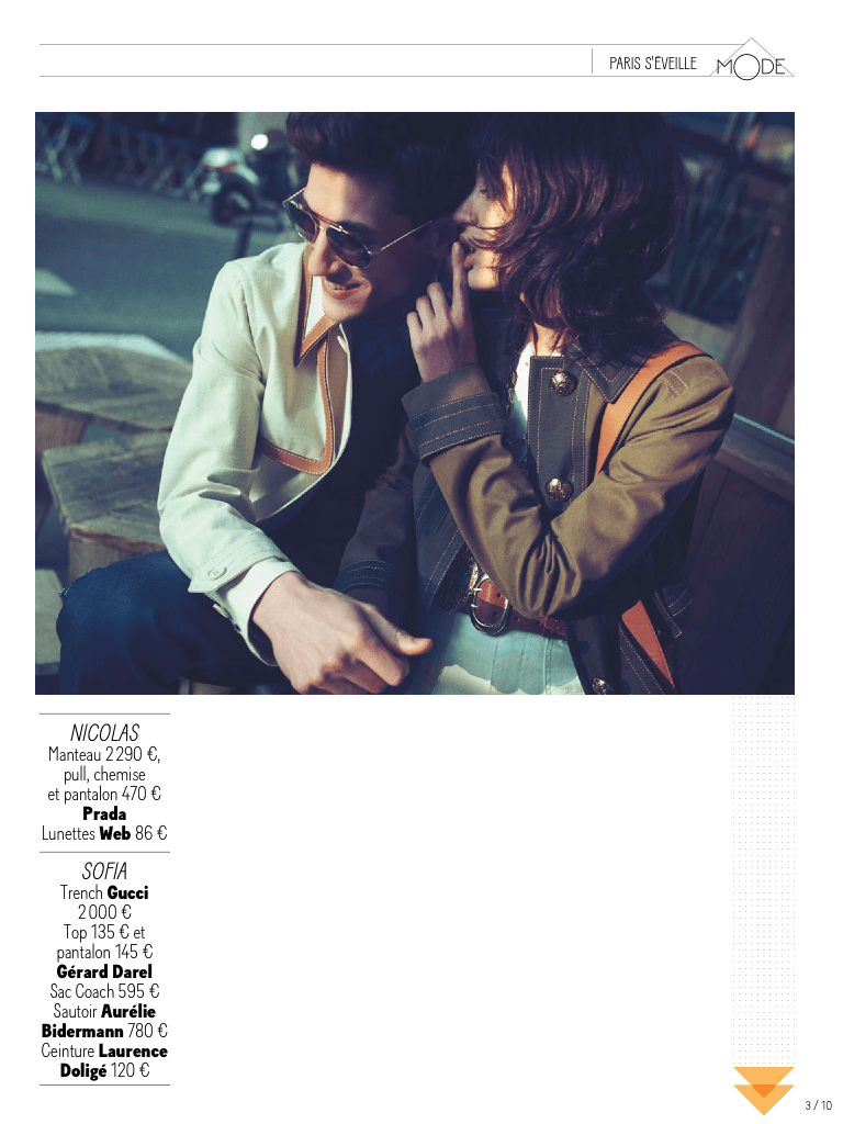 GQ France April 2015 presents Nicolas Ripoll  Photographer by Arnaud Pyvka. Stylist: James Sleaford and Laetitia Paul, Hair: Fréderic Kebbabi and Make-up: Kathy le Sant.
