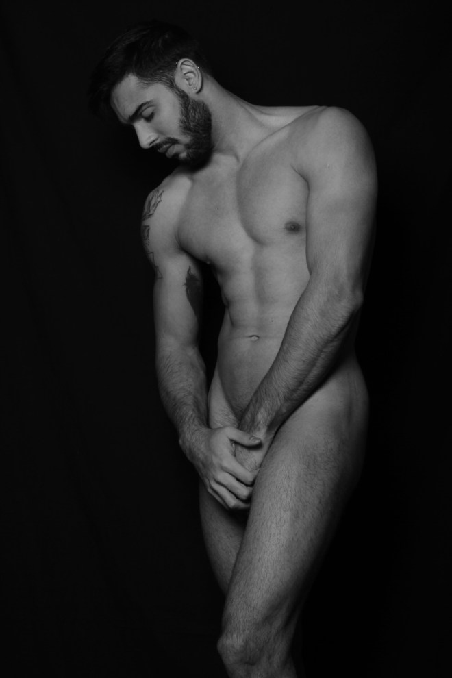 The Bearded Beauty- Image By LeBeau Foto  I saw Gustavo at the Barcelona Prouction of the Hole 2 (a sexy Cabaret show) I asked if I could do his portrait an we met for a quick photo shoot at the studio. The result are a collection of images that show off his natural beauty and amazing body. Model: Gustavo