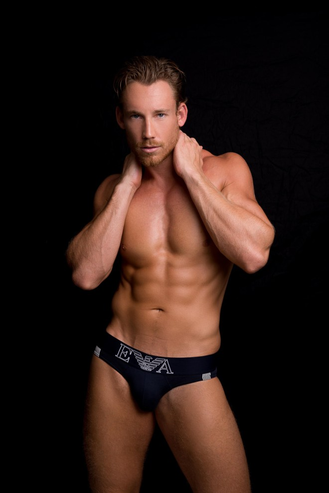 The gorgeous male model Calum Winsor at Front Management posing flawless for an updated snaps taken by Fritz Yap.