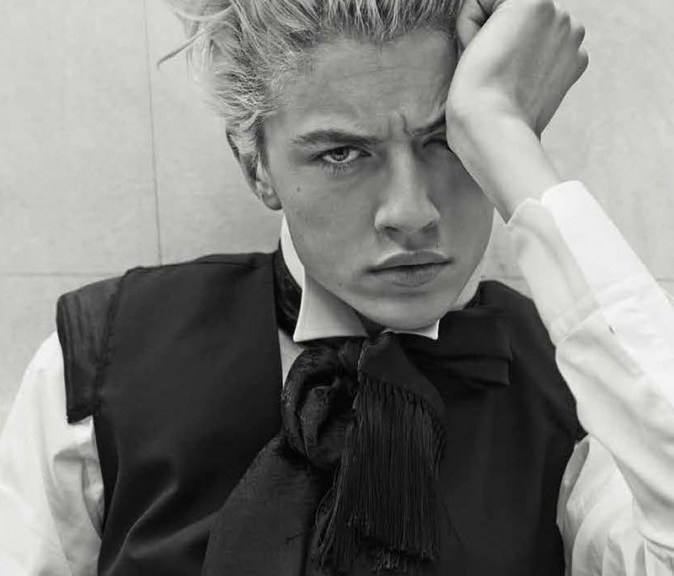 Hercules Universal S/S 2015 model sensation Lucky Blue Smith by Giampaolo Sgura Fashion editor: Miguel Arnau, Hair: Andrew Guida and Makeup: Jessica Nezda.