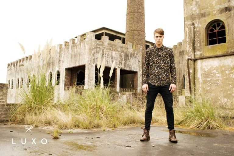 Luxo a menswear clothing based in Buenos Aires presenting its F/W 2015 Collection photographed by Ari Mendes, and modeling fresh and original apparel Look 1 Model Wolle Schroeder. Stylist: Mena Galeano and  groomer: Alejandra Galanti.