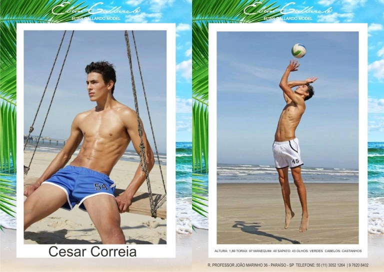 Check the showcards male casting of ELIAN GALLARDO agency for the national launch season of summer collections 2016. The photos of composites are Cristiano Madureira, with make & hair Rafael Guapiano and looks the Officio Jeans and Calvin Klein Underwear. To check out the making of, click here.