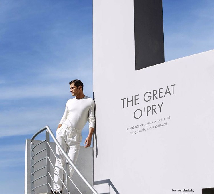 Sean O'Pry photographed by Richard Ramos and styled by Joana de la Fuente, for the May 2015 issue of GQ Spain.