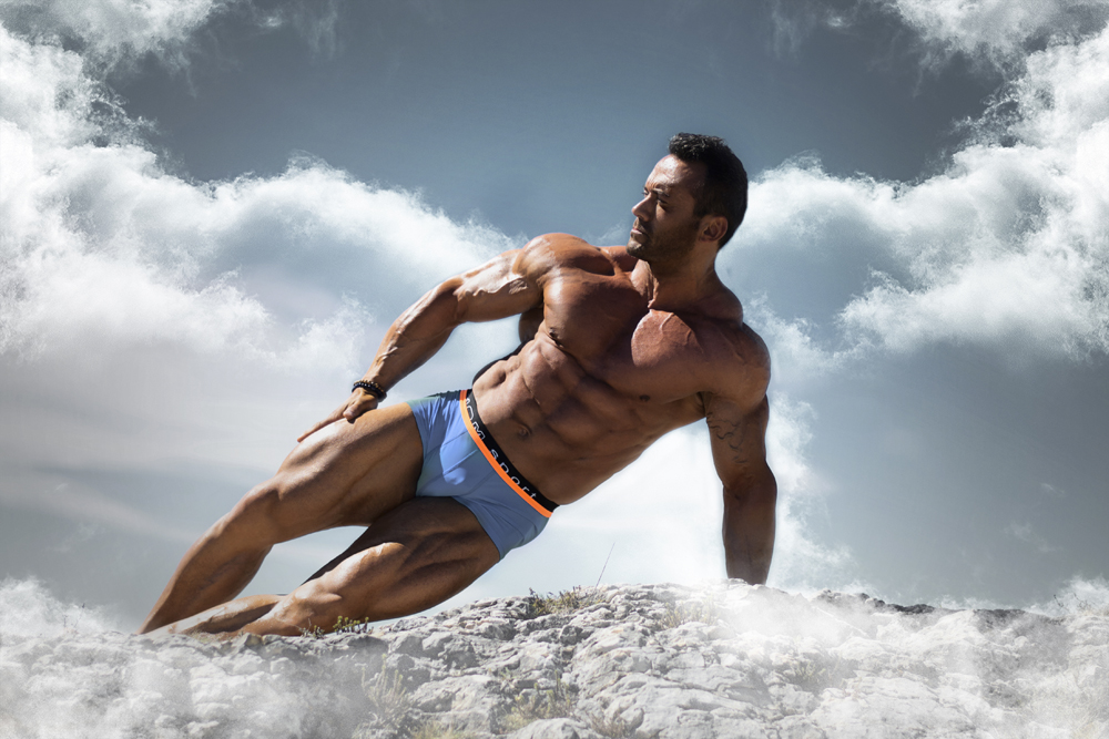 The Greek God French Championship Bodybuilder Thierry Tache by photographer Florian Gimbert. Inspirational athlete.