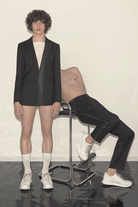 VMAN presents its Spring/Summer 2015 collection to modernize your wardrobe. Modeling Simon Fitskie at Elite, Liam Garner at Select, Erik van Gils at 16Men photographed by Walter Pfeiffer and styled by Hannes Hetta.