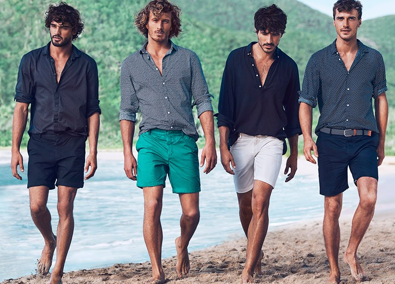 H&M takes Andrés Velencoso, Clay Pollioni, Clément Chabernaud and Marlon Teixeira to Antigua, for its Summer 2015 campaign.