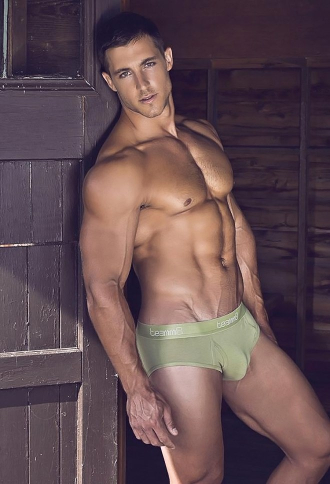 Dashing Australian rugby player turned model, Kayne Lawton, wows in new pieces from 'Teamm8' marvellously shot by photographer Ian Chang.
