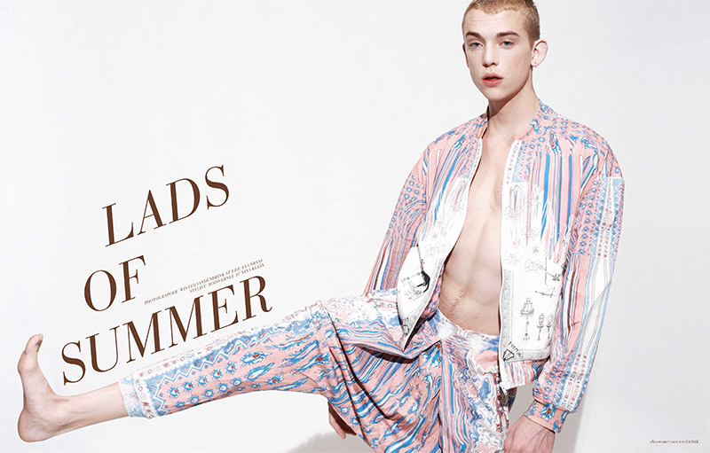Elle Man Thailand presentes Lads of Summer shot by Winter Vandenbrink and Styled by Bodo Ernle.