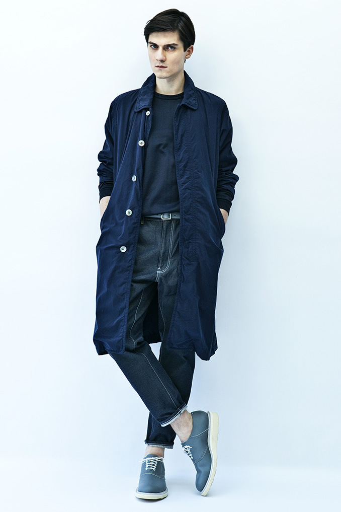 Impeccable casual men's lookbook from 08sircus SS15 from Japan kiminorimorishita garments lab inc.