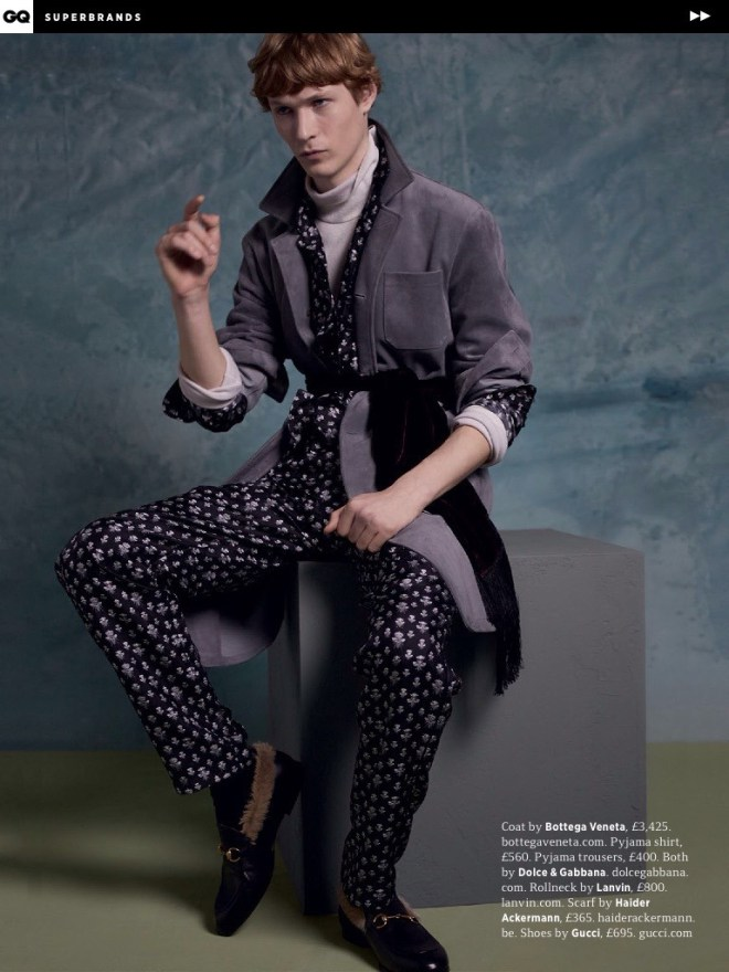 Models Sven de Vries and Jack Chambers grace the pages of GQ UK's newest supplement, posing for a fashion story focused on a selection of standout looks included in the fall/winter 2015 collections of prestigious menswear labels. Photographed by Felix Cooper, the models hit the studio wearing eclectic fall designs, selected by stylist Gary Armstrong.