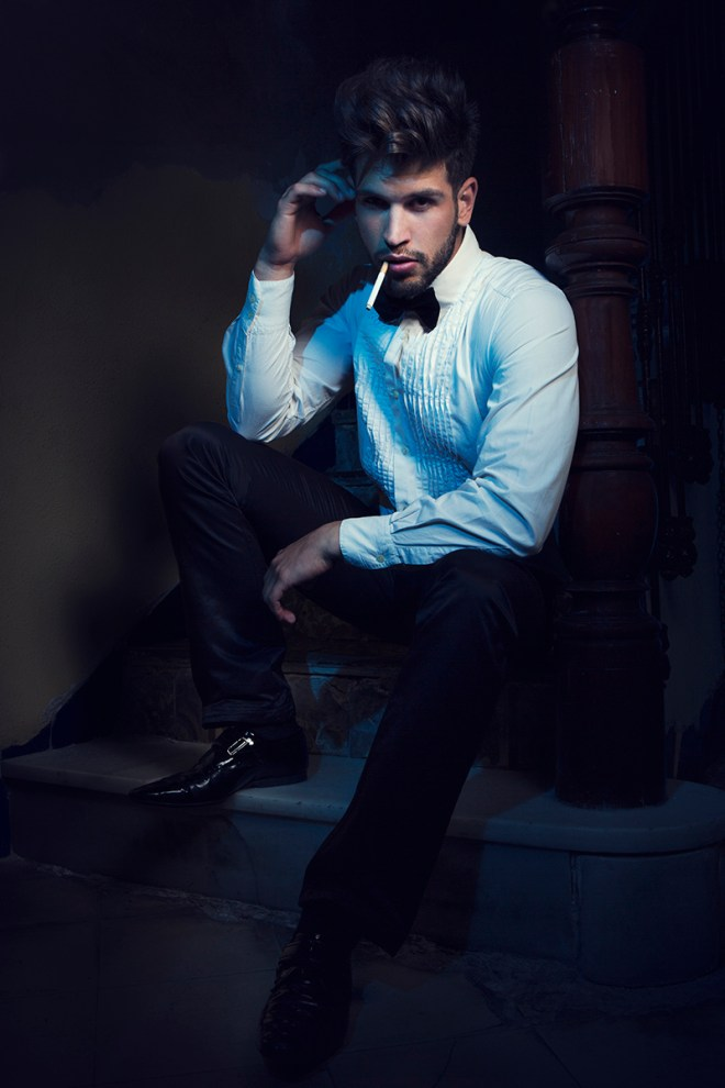 Featuring Spanish male model Ivan Corma styled by Antonio Bordera shot by Photographers Rubén Ibáñez and Daniel Oury.