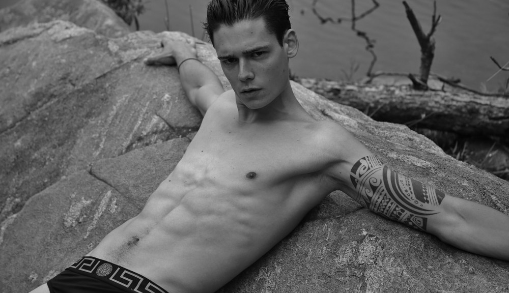 Berlin based male model Mario Adrion hitting U.S. to connect with different photographers, Michael Del Buono did it first.