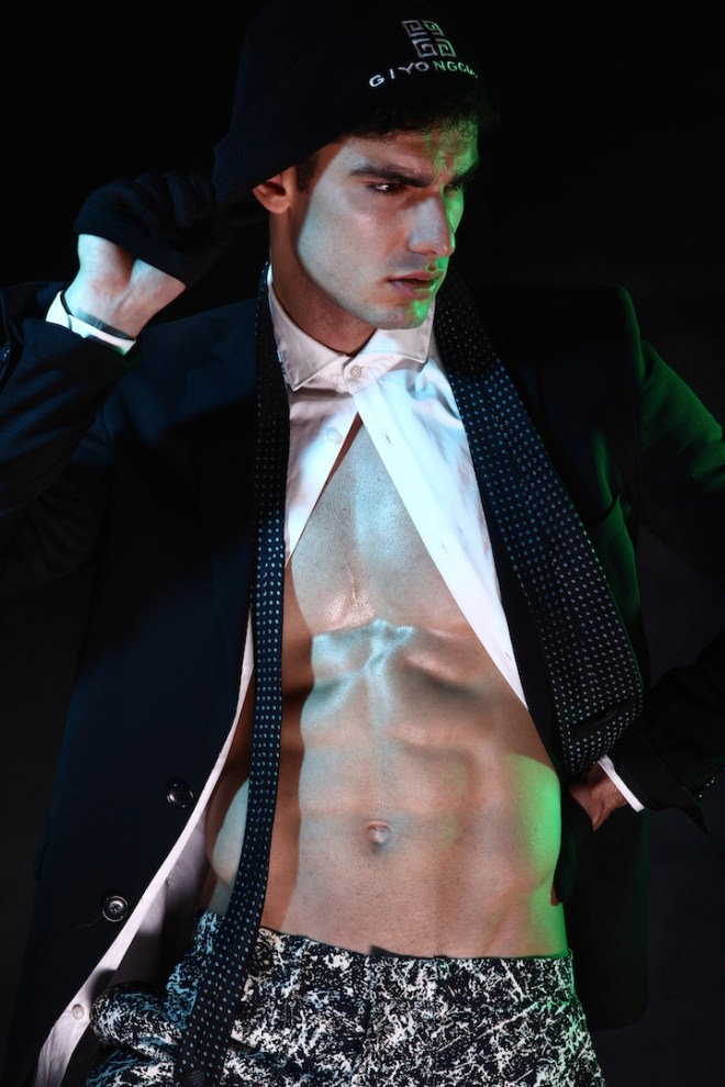 """""""I was Gonna Cancel"""" featuring last fashion portrait by Santy Calalay with dashing newcomer Rodolfo Silva from Ideal People Models. Grooming by Kune Delgado."""