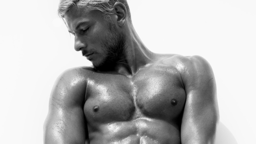 Aussie top model Daniel Garofali explodes in a sensuality shot by Stephen Busken.
