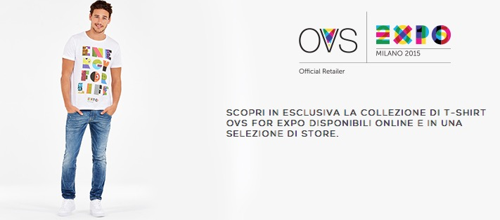 Discover the exclusive collection of t-shirts for OVS for EXPO available online and in selected stores. Modeling every tee Mariano Ontañón is in front of the Milano retailer.