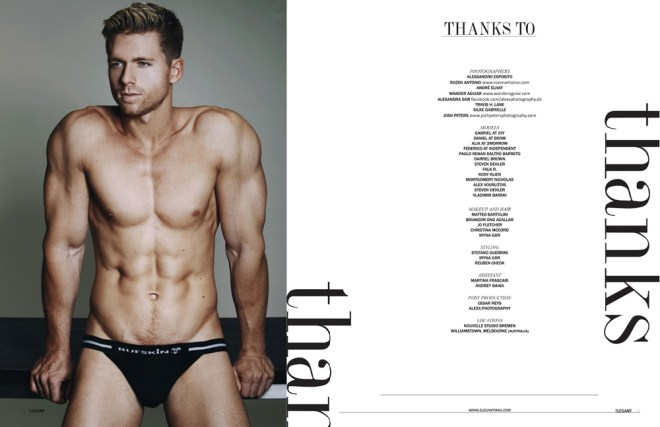 Model Steven Dehler fronts a new cover and story for Elegant Magazine, posing so freaking sexy Steven is captured by talented Wander Aguiar.