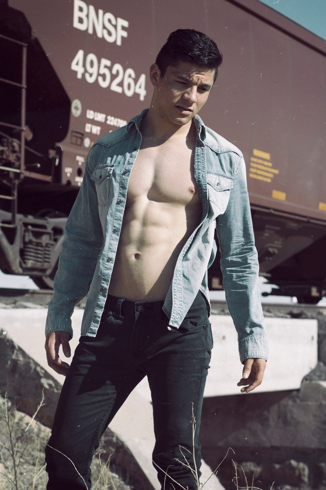 """I would like you to meet the new work of my friend the photographer Luis de la Luz and his new model Isaac Zuniga in the story titled """"OLDISTRICT"""" """"Old Memories Are Part of What We Are Now"""" Isaac is signed by Kodigho Models."""