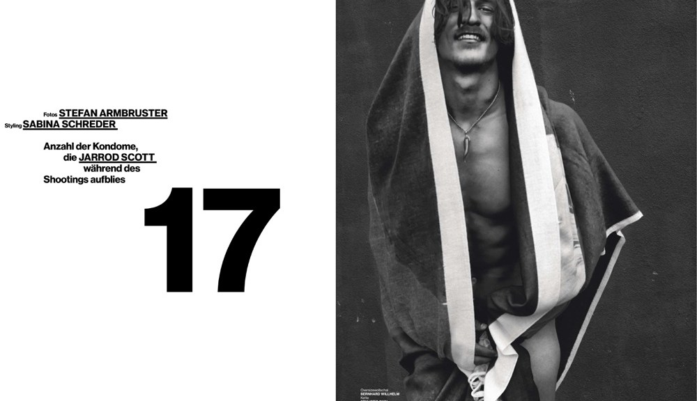 He is honestly the hottest man alive and I hate myself for liking someone so stereotypically attractive. Gosh, this is Top model Jarrod Scott posing for the lens of Stefan Armbruster for Numéro Homme Germany. Styled by Sabina Schreder. Best work I've seen so far.