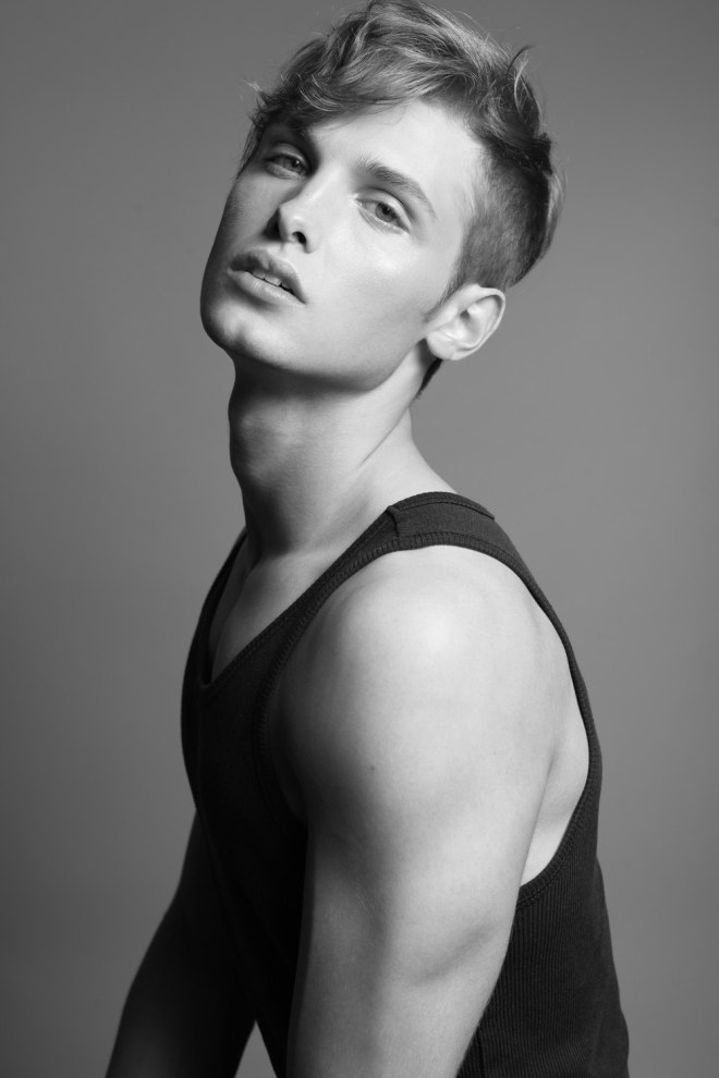 Meet exquisite charming male model Joe Franz captured by Michael Dar for Dominus Magazine.