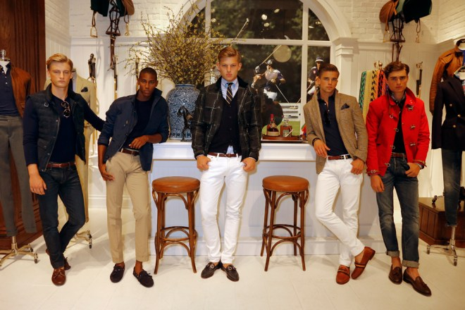 A pared down, updated sensibility was the new message at Ralph Lauren's expansive spring Polo presentation.