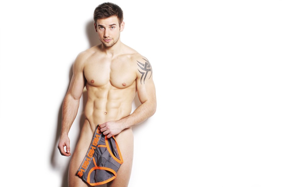 Garçon Model shows off new 3 new pairs of briefs: Ocean Briefs, Dodge Briefs, Espanola Briefs. Male model Alex Crockford modeling the new pieces snapped by Jerrad Matthew.