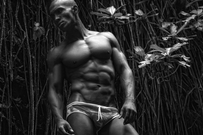 """Model José Valdes represented by Likuid Management snapped by Ryam Anthony in """"Paradisus"""" at El Yunque, Puerto Rico."""