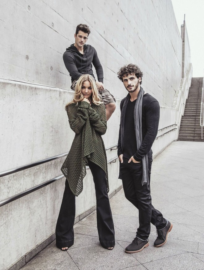 Arthur Sales, Priscila Uchoa and Rhuan Favoretto stars new campaign Fall/Winter 2015 images for Mandi shot by Tavinho Costa, styled by David Pollak and hair / MUA by Helder Rodrigues. Ford Models BR.