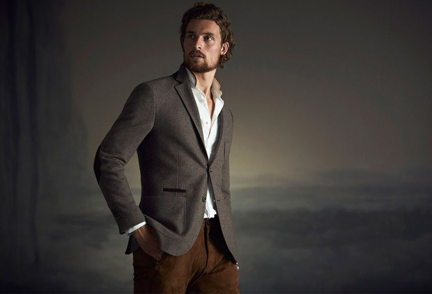 Beyond the Hills the new editorial exposing A/W 2015-16 Men's Collection from Massimo Dutti with male model Wouter Peelen.