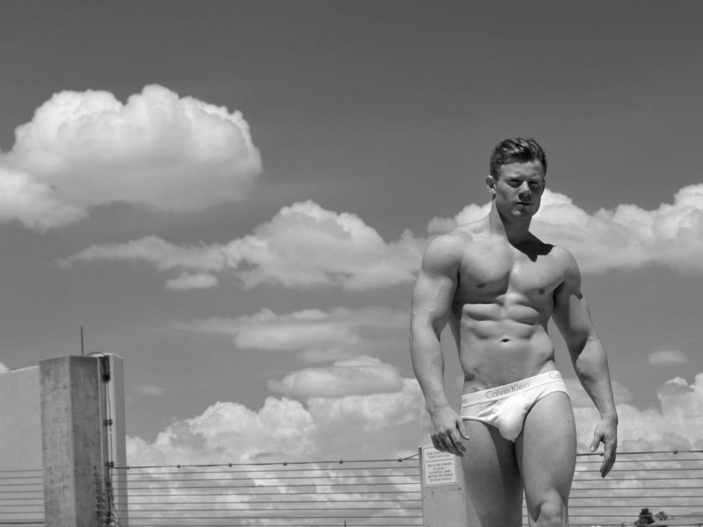 """Fitness male model Aaron Ryker in """"11:11"""" wearing CK underwear shot by MiLo800. Aaron is signed at ONY Models International."""