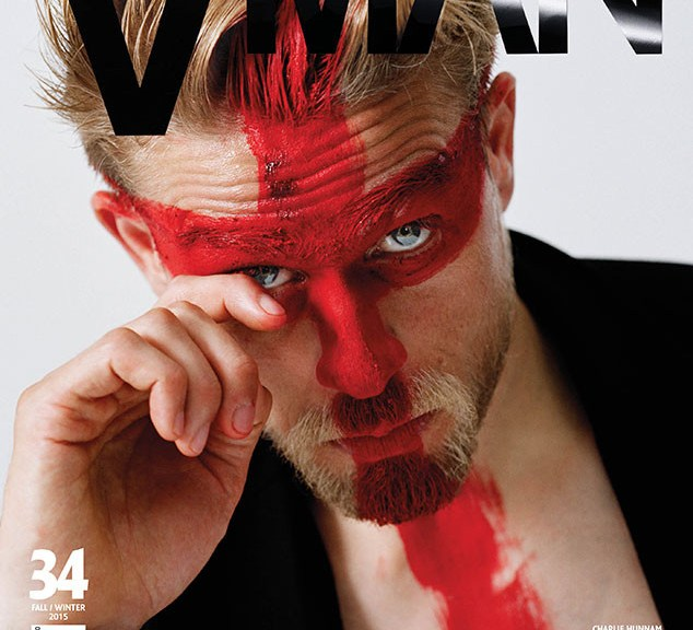 Our crush Charlie Hunnam loses his shirt on the new issue of V Man. Damn, he's looking good. His interview is pretty good too, but we're sure you're probably not even going to read it because you'd rather see his shirtless pics.