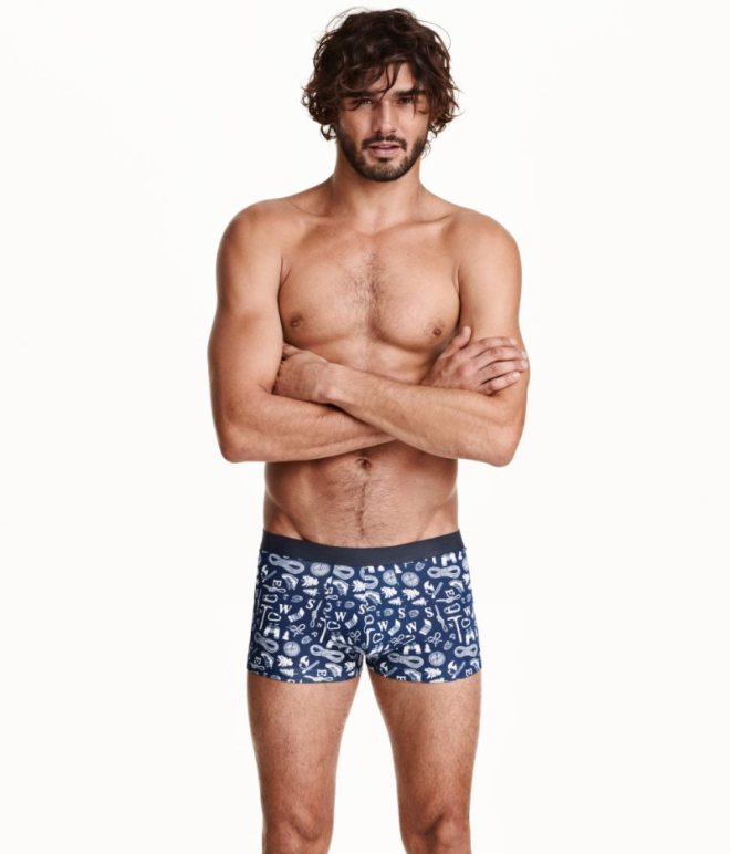 All spotlight now at: Marlon Teixeira for H&M Underwear Supermodel Marlon Teixeira fronts the latest underwear from H&M.