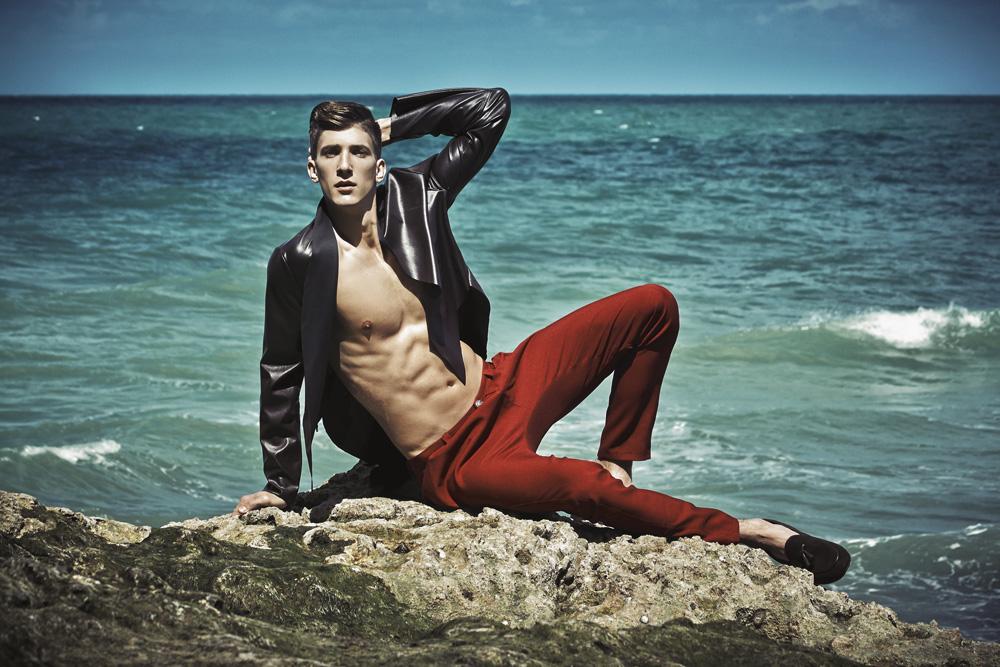 "New work entitled: ""HEROS 444"" by Photographer Wojciech Jachyra starring Michał Baryza at Specto Models, styled by Paulina Gałuszka for Elegant Magazine."