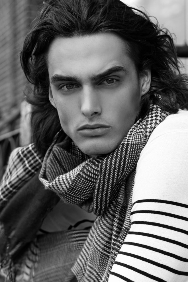This is a really nice portrait clicked by Thomas Synnamon featuring a new handsome male model Bertie Pearce represented by VNY Model Management at New York City.