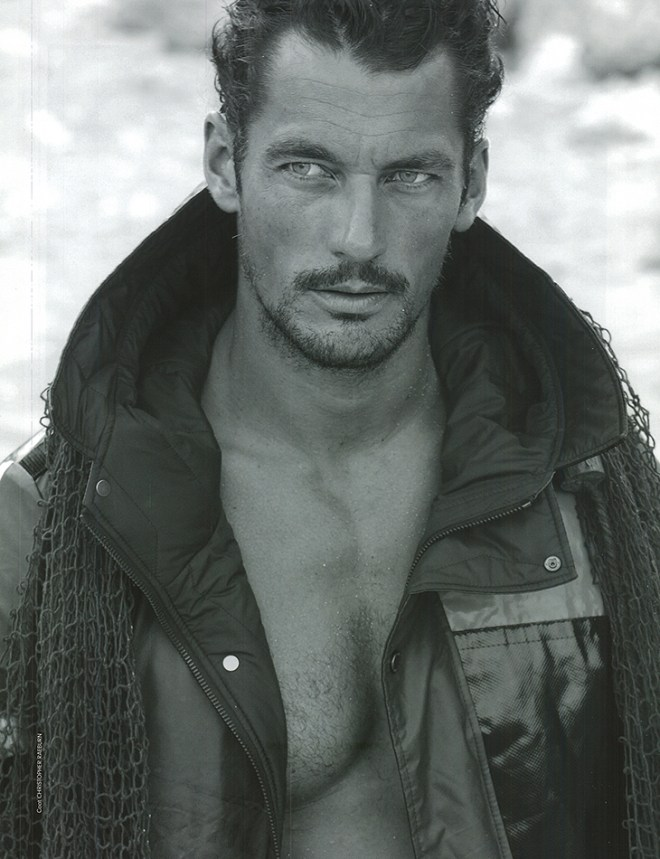 Revealing this week the new F/W 2015 Biannual Men's Fashion 7th Man Magazine covered by Top model David Gandy photographed by Lawrence Sparkes and styled by Dean Hau.