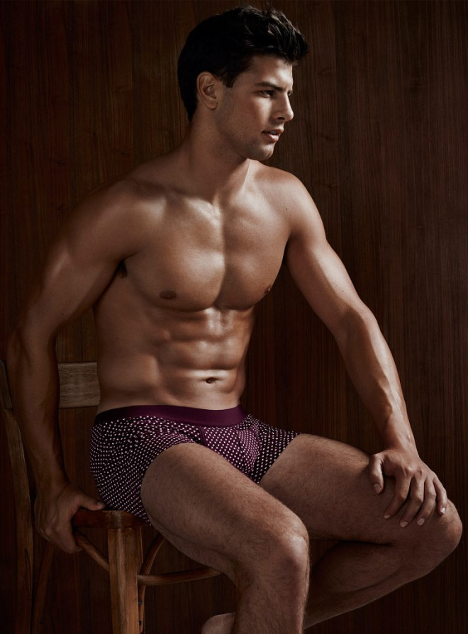 The exquisite Frankie Cammarata posing in various underwear styles for Quebec retailer 'Simons'.