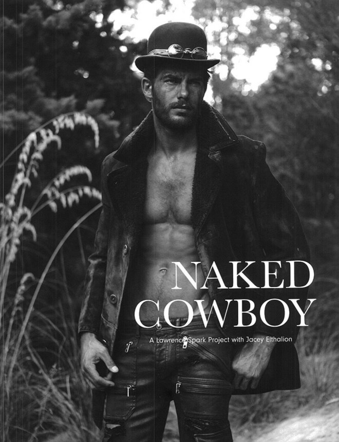 """Seventh Man F/W 2015 presents """"Naked Cowboy"""" a work by Photographer Lawrence Sparkes starring Jacey Elthalion and Stylist: Dean Hau."""