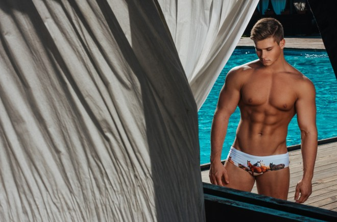 Marcuse launches its new swimwear line Collection15/16, featuring model Ivan Gudkov in a radiant session on the beach by photographer Serge Lee.