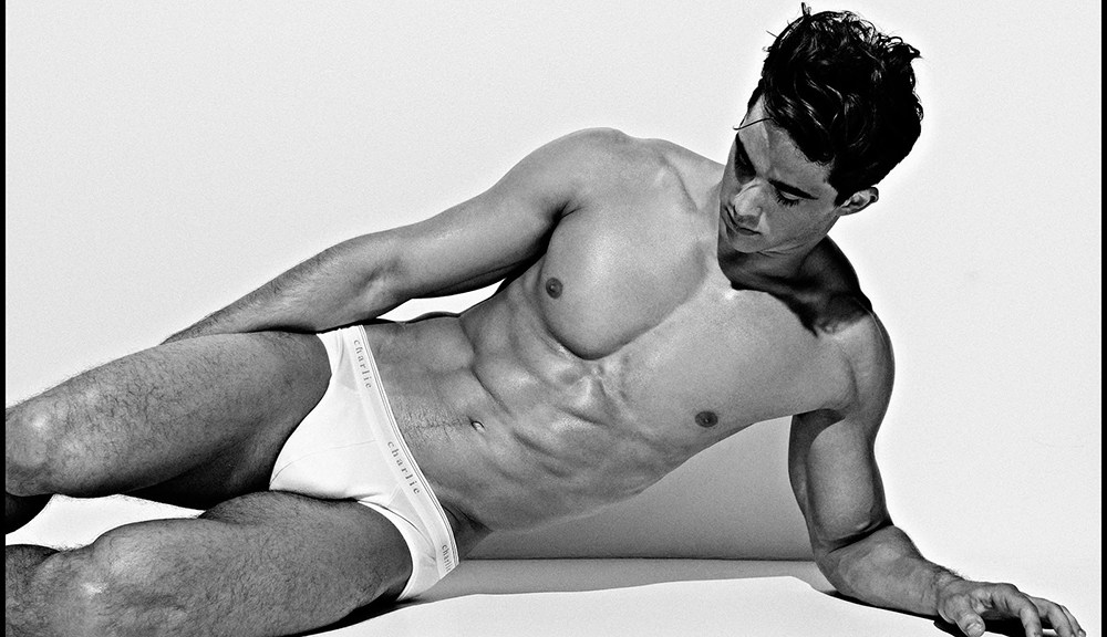 """Italian stunner Pietro Boselli aka the """"world's hottest math teacher"""" reunites with 'Charlie by Matthew Zink' for its Classics collection, marvellously shot in black & white."""