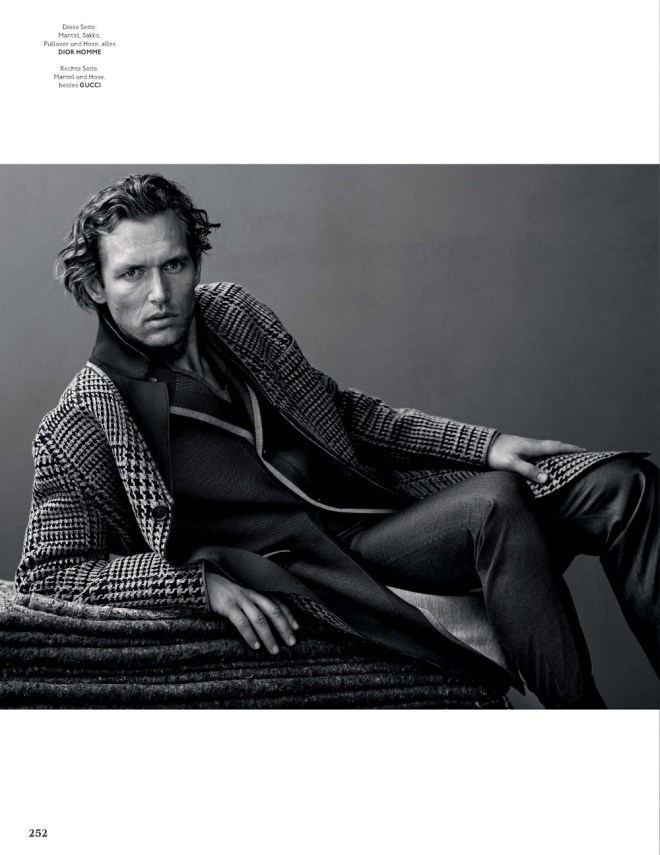 """GQ Style Germany presents the work of Bel Weller, styling by Luke Day and featuring Robertas Aukstuolis from Select Model in """"Treue Gefährten""""."""