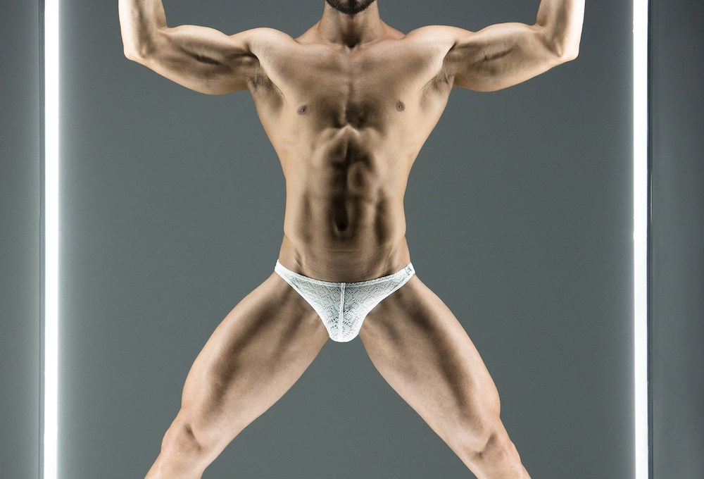 A new, limited edition, men's underwear line has just been released by Modus Vivendi. The new line is called Geo Lace and is made from a semi-transparent, made in France, fabric with printed geometric shapes.