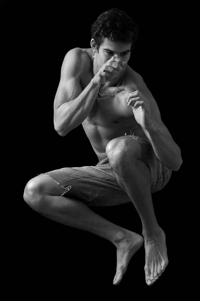 Gorgeous Brazilian model Gabriel Burger at 'Ford Models' connects with photographer Cristiano Madureira once again for a creative B&W portrait session.