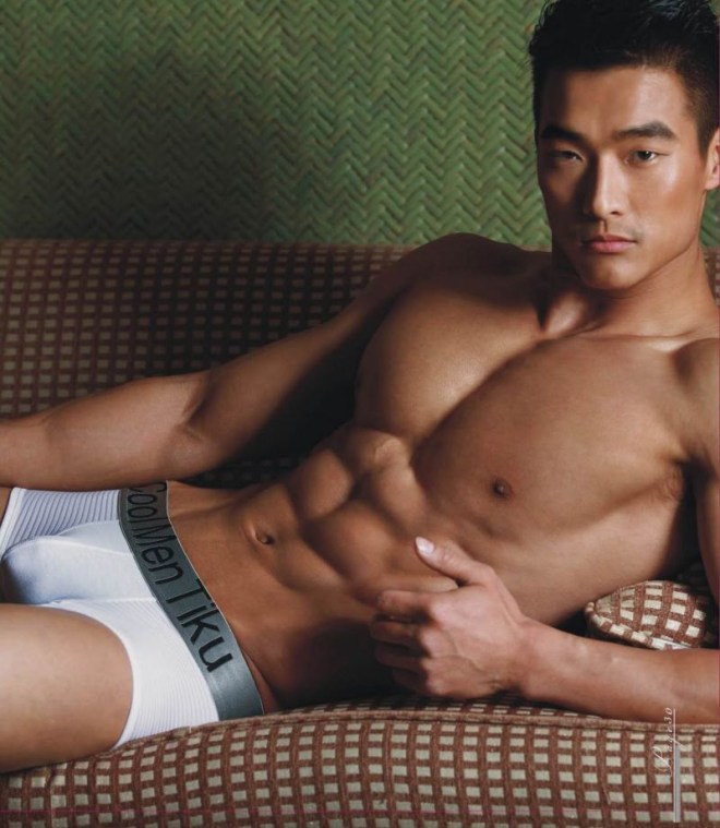 Jin Xiankui is Chinese (based in Beijing) but was born in Korea. He's one of a famous models for underwear in China.