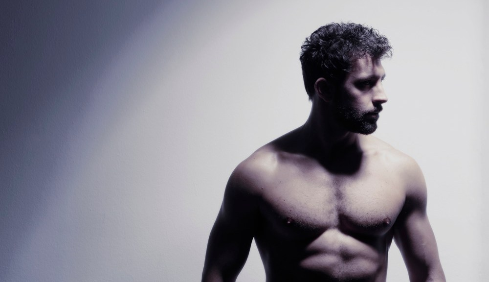"""Please experience this stunning nudart intimate photography by Spanish lensman Eduardo Peris featuring Javier Olmedo in """"Soul Man"""" a see-through shots lighting the male figure of this hunk."""