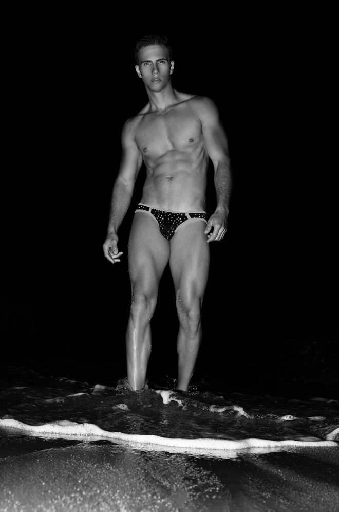 A night full of stars at Cabo San Lucas, here's dashing male model Uriel Galindo starring Mexico Series 2 a project under the lens of photographer Mladen Blagojevic.