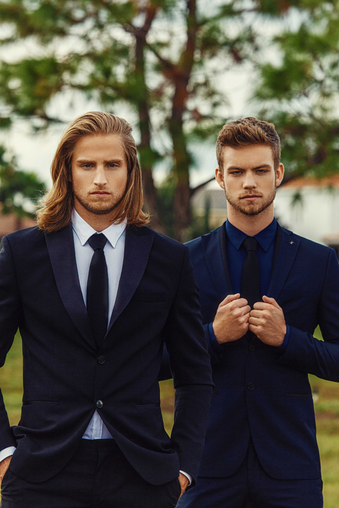 Recent session by photographer Alex Jackson with America's Next Top Model Cycle 22 contestant Dustin McNeer (Next Miami) & Jason Summerfield (Front Miami).