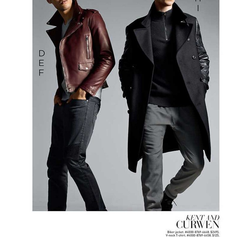 """Saks Fifth Avenue launched Winter 2015 Lookbook called """"Outside Impact"""" all new arrivals and new items available at every store and ready to shop for this Christmas season. Modeling in fashionable garments Arthur Gosse and Nathaniel Visser."""