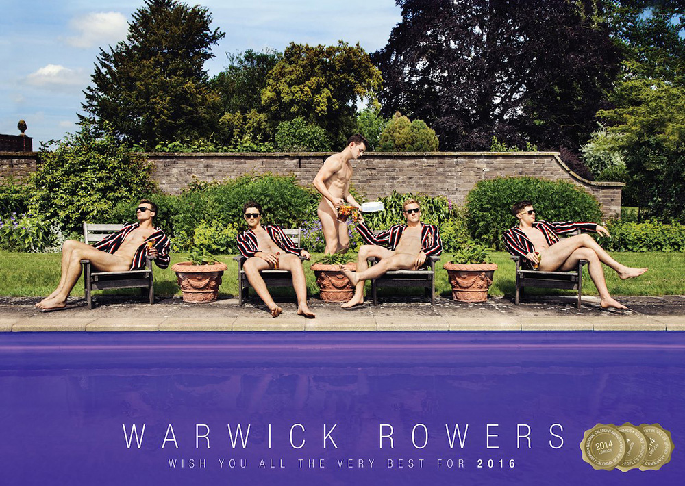 The UK sports team releases their 2016 nude calendar to fight homophobia. The clothing-challenged altruistic lads of the Warwick Rowers Club are back with another nude calendar to help fight homophobia.