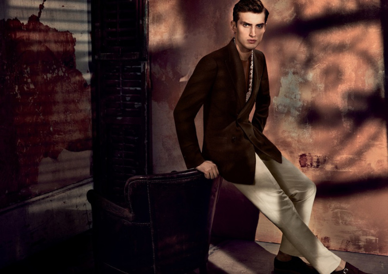 Charlie France for Gieves & Hawkes' latest Campaign. Photos by Vincent Peters. Styled by Paul Mather.