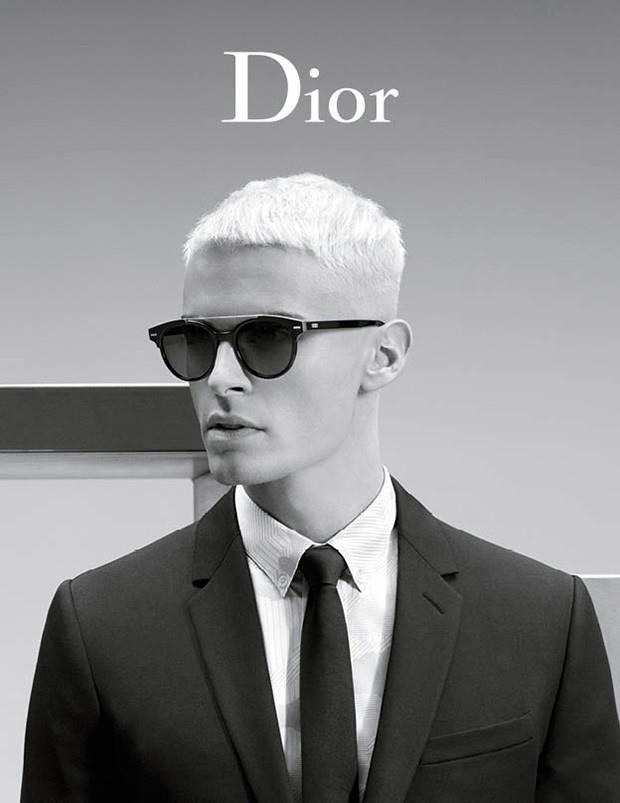 International top model Baptiste Giabiconi fronts the Spring/Summer 2016 campaign of Dior Homme, photographed by Karl Lagerfeld.